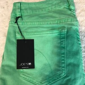NWT Joe's Jeans Skinny Ankle in Electric Lime